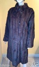 Neiman Marcus mahogany squirrel Canada genuine fur coat jacket L XL 14 16 mint