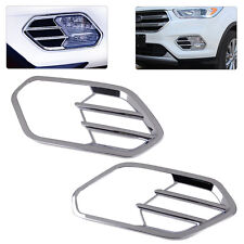 2x Chrome Front Fog Light Lamp Trim Moulding Cover Fit For Ford Escape Kuga 2017