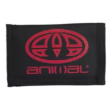 ANIMAL MENS WALLET.MOLOKAI BLACK TRIFOLD MONEY NOTE CREDIT CARD COIN PURSE W20