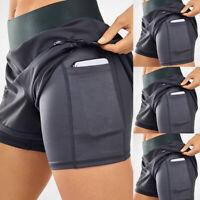 ❤️ Women's Quick Drying Short Pants Yoga Double Layer Sports Fitness Yoga Shorts