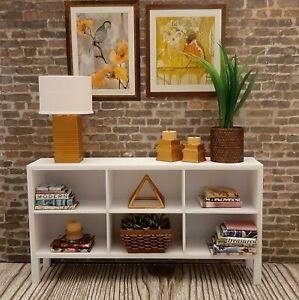 ⬜for BARBIE white TV CONSOLE shelf FURNITURE decor ACCESSORY diorama 1/6 OOAK