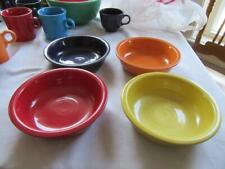 4 FIESTA WARE 7 INCH CEREAL BOWLS