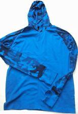 Herren Sportjacke Lauf Jacke + Kapuze Hoody blau +camouflage Gr.XL .