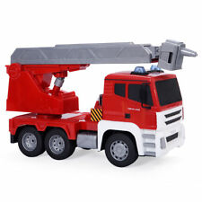 5CH Red 1/18 Remote Control RC Toy Fire Truck Engine Rescue Vehicle Car Ladder