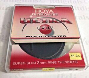 Genuine Hoya 58mm UV (0) Ultra Slim Multi-Coated Lens Protector Filter Japan MC