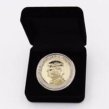 Donald Trump Coin COMMEMORATIVE INAUGURATION 2017, 24K GOLD/925 Silver Plated