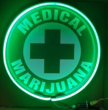 "24"" Medical Marijuana Cross Neon Sign *Pot Weed Marijuana Advertising"