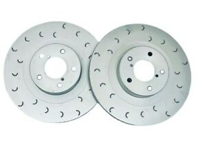 for Impreza WRX Front Grooved Brake Discs C Hook