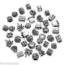 100 Mixte FP Perles Charm à motif pour Bracelet Charms