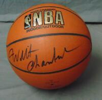 Wilt Chamberlain Signed Official Spalding NBA Basketball With JSA COA