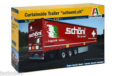 "Italeri 3918 1/24 Scale Model Truck Kit Curtainside Semi Trailer ""Schoeni.ch"""
