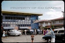 Philippines 1950's 1953 35mm PHOTO SLIDE - SELECTA STORE CARS FORD CHEVY OLDS