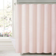 "Honeycomb Embossed Microfiber Polyester Shower Curtain 70""x72"" Blush"