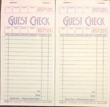 2 Pack G3616 Guest Checks Book Waitress Pad 15 Line 100 Page Booklet NEW Paper