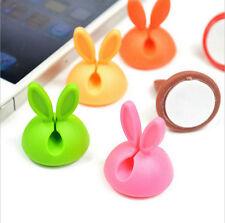 8 PCS Rabbit Shape Cable Drop Clip Desk Tidy Organiser Wire Cord USB Holder Fixe