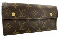 Auth LOUIS VUITTON Accordion Long Bifold Wallet Monogram Leather M58008 58016572