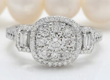 1.75 CTW Natural DIAMONDS in 14K Solid White Gold Women Ring
