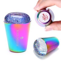 BORN PRETTY Transparent Nail Holo Stamper Colorful Handle Nail Art Design Tools