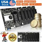 USA BTC-T37 GPU Mining Rig Machine Motherboard With CPU support 8 GPU PCIE slots