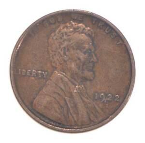 Semi Key 1922-D VF/XF Lincoln Wheat Cent - Sharp *563