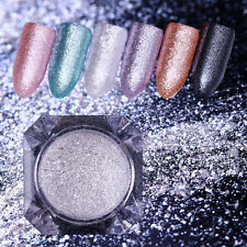 Gem Pearl Mermaid Nail Art Powder Silver Mirror Glitter Shining Dust Born Pretty