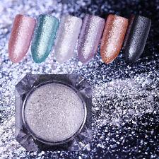 Nagel Glitzer Pulver Perle Meerjungfrau Nail Art Silber Spiegel Dust Born Pretty