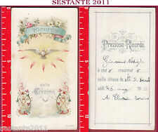 2156 SANTINO HOLY CARD RICORDO DELLA CRESIMA A. & M. B. 1899