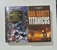 Dan Abnett Know No Fear and Titanicus Warhammer 40K