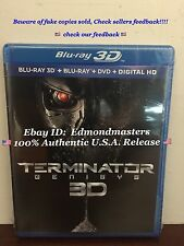 Terminator Genisys 3D Blu-ray/ Blu-ray/DVD, 2015 Includes Digital HD Ships Fast!