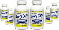 6 X Ivory Caps Skin Whitening Beauty Glutathione Support 1500 mg Pills - 60 Caps
