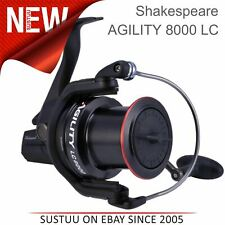 Shakespeare Unisex Agility 2 8000 Longcast Reel│Sea Fishing│6+1 Bearing│Black