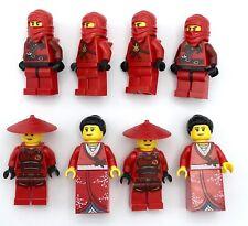 LEGO 8 NEW NINJA MINIFIGURES MALE & FEMALE W/ HATS AND HOODS FIGURES