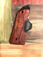 Crimson Trace Red Laser Push Button Grip For Compact Carry 1911 Firearm Rosewood