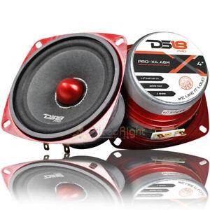 "2 DS18 PRO-X4.4BM 200W Max 4"" Midrange Speakers Loudspeaker With Bullet 4 Ohm"