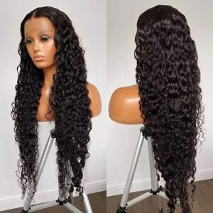 8A 180 Density Unprocessed Brazillian Waterwave Curly Lacefront Human Hair Wig