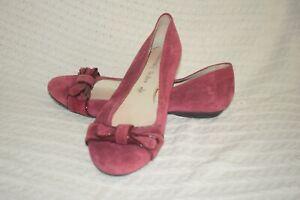 Ladies NEXT Heavenly Soles Burgandy Ballerinas SIze 8/ 42 shoe court pumpss