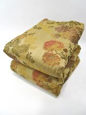 Croscill King Pillow Shams Set of 2 NWOT Gold Red Plum Hydrangeas Roses Floral