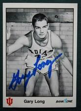 Indiana University Star Gary Long autographed 1986 basketball card-Iu!
