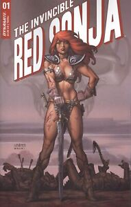 INVINCIBLE RED SONJA #1 COVER B LINSNER VF/NM 2021 DYNAMITE HOHC