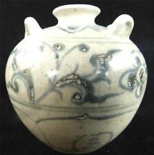 Antique chinese ceramic blue & white jarlet vase B