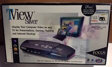 SEALED - Focus Enhancements TView Silver Display Computer Video On TV - NEW