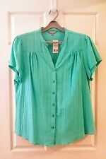 SUZANNEGRAE - Sz18 TURQUOISE (GREEN) COTTON TOP BNWT