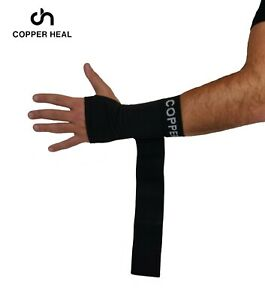 COPPER HEAL Long Wrist Sleeve w/ Adjustable Bandage Suitable for Both Right Hand