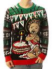 Ugly Christmas Party Sweater Unisex Men's Jesus Birthday Boy Cake Smash