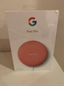 NIB Google Nest Mini (2nd Generation) Smart Speaker - Coral
