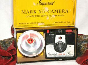 New1950 Imperial Mark XII Flash Art Deco Box Camera 6x6  620 Film Works Vintage