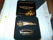 2 PIN'S HARLEY DAVIDSON 110th Winged Anniversary/Seal Badge PIN/HOG!
