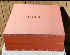 "Gucci ~Pink w/Lace Border & Cotton Cloth Lining (Empty) Box ~ 17.5"" x 17.5"" x 7"""