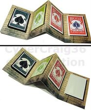 ADVERTISING SPACE 3D MAGIC TRICK RED BICYCLE MAGNET PLAYING CARD APPEARING DECK