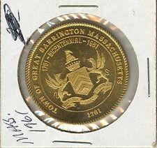 1761-1961 Great Barrington, Massachusetts, 50¢ piece Municipal Trade Token